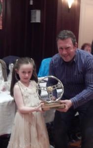 Sarah Foley presents Paul  Murphy with the Myles Foley award
